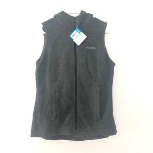 Columbia S Small Benton Springs Hooded Vest Zip Up